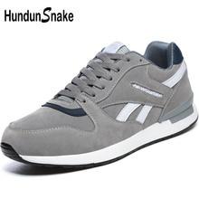 Hundunsnake Leather Grey Woman Sport Sneakers Women Sport
