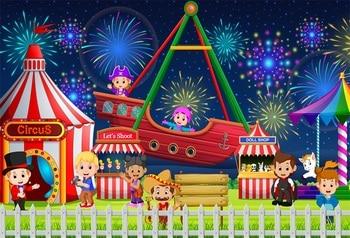 Laeacco Bebe De Dibujos Animados De Carpa De Circo Fuegos