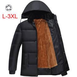 Woxingwosu для мужчин и wo Мужчин's парки с капюшоном, зимняя одежда, хлопковая стеганая куртка, размеры L до 3XL