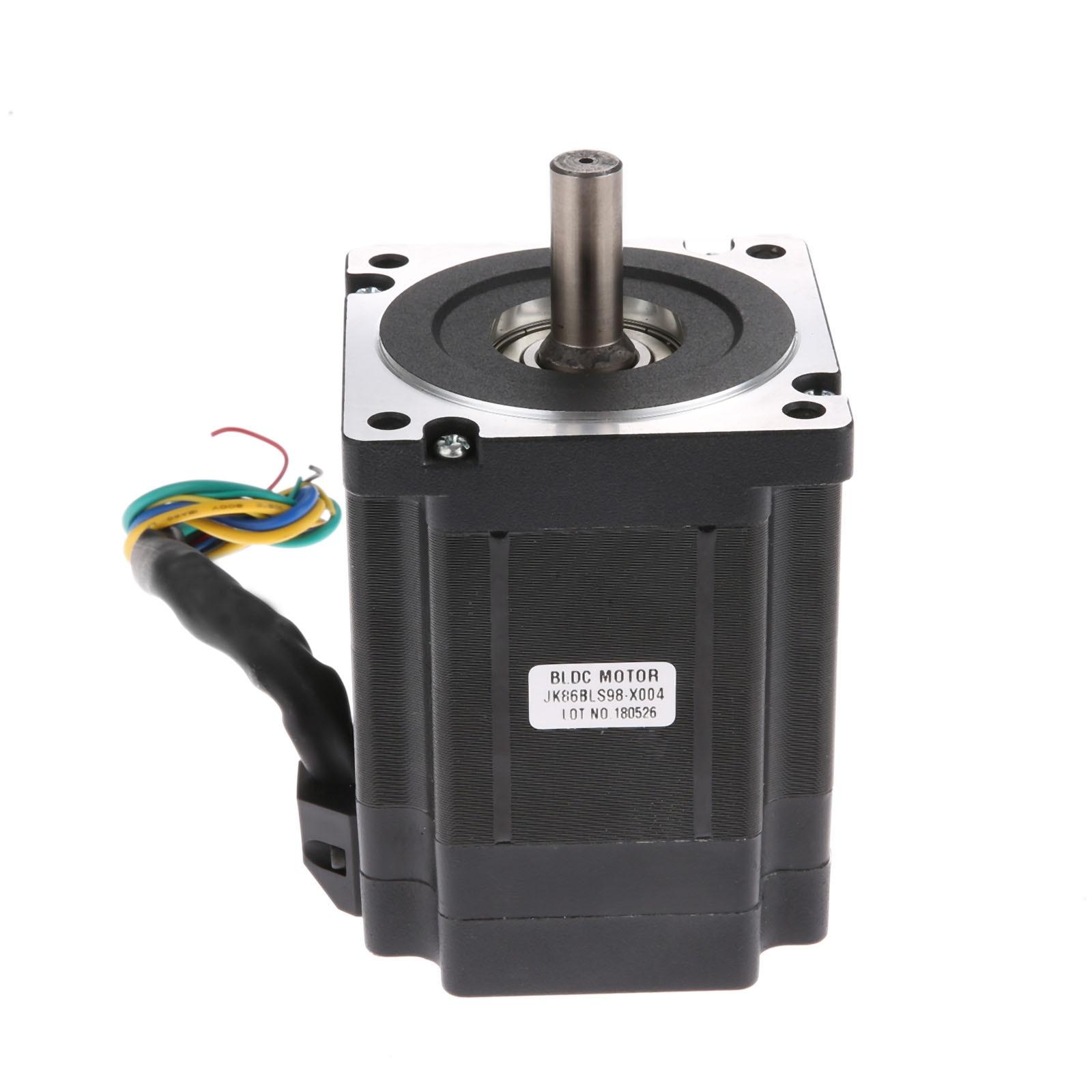 86BLS98 86x98mm Brushless DC Motor BLDC 48V 440W 3000RPM 3 Phase 1.4N.m/197.2oz.in. Small DC Motor For 3D Printer DIY Design