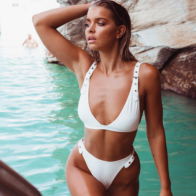 <font><b>Wome</b></font> Swimsuit <font><b>2019</b></font> New High Waist <font><b>Bikini</b></font> <font><b>Sexy</b></font> Swimming Suit <font><b>Swimwear</b></font> Women Beach Bathing Suit <font><b>Swimwear</b></font> Brazilian Biquini 3491 image