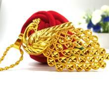Подвеска peacook красивая женская подвеска с желтым золотом