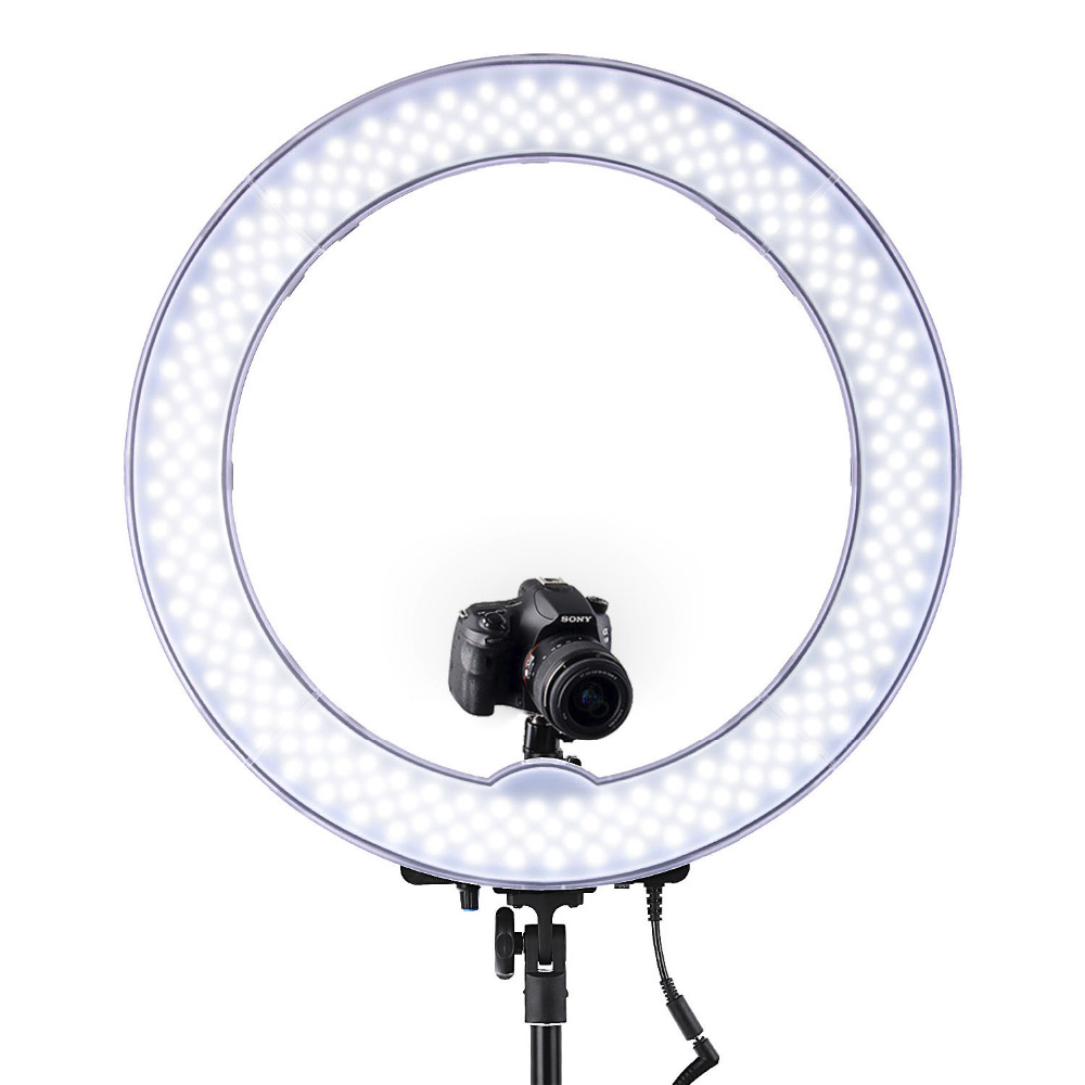 Image 2 - FOSOTO RL 18 photographic lighting 5500K Led Ring Light WithTripod & Orange Bag Ring Lamp For Makeup Camera Phone Youtube Video-in Photographic Lighting from Consumer Electronics