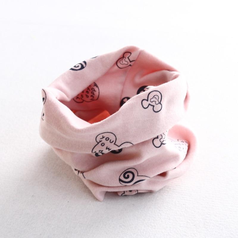 Осенне-зимний детский хлопковый шарф для девочек и мальчиков теплые шарфы Детский круглый кольцевой ошейник Детский шарф детский волшебный шейный платок - Цвет: M 3