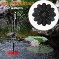 Солнечный водяной фонтанный насос для сада  бассейна  водоема  полива  открытый сад  миниатюрный Лотос  Плавающий тип  водяные насосы  компле...