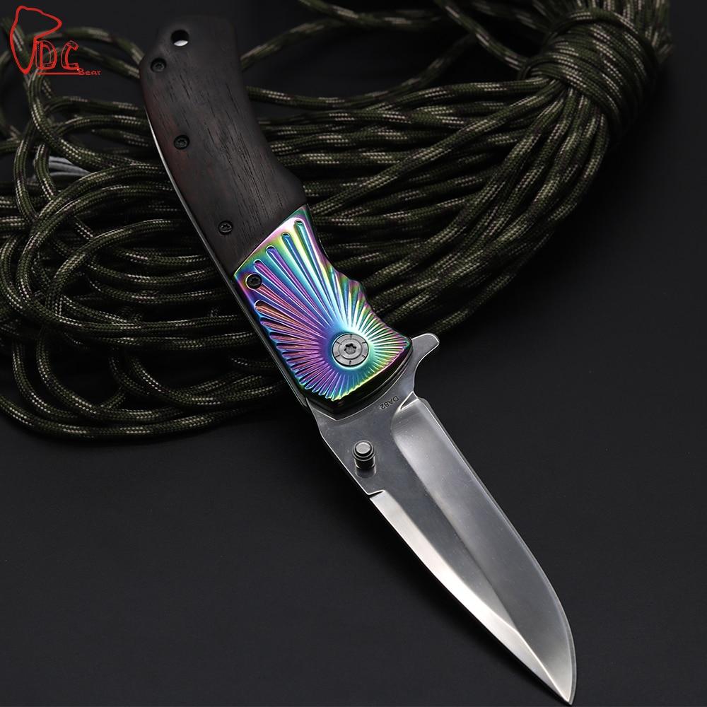 Dcbear DA82 Pocket Folding font b Knife b font With 3CR13 Steel Blade 58HRC High Performance