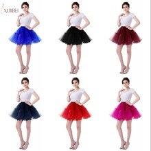 White Black Rockabilly Tulle Short Wedding Bridal Petticoat Crinoline Woman Mini Tutu Skirt Underskirt Accessories