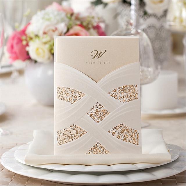 Hot Sell 1pcs Casamento Personalized Laser Cut Wedding Invitations