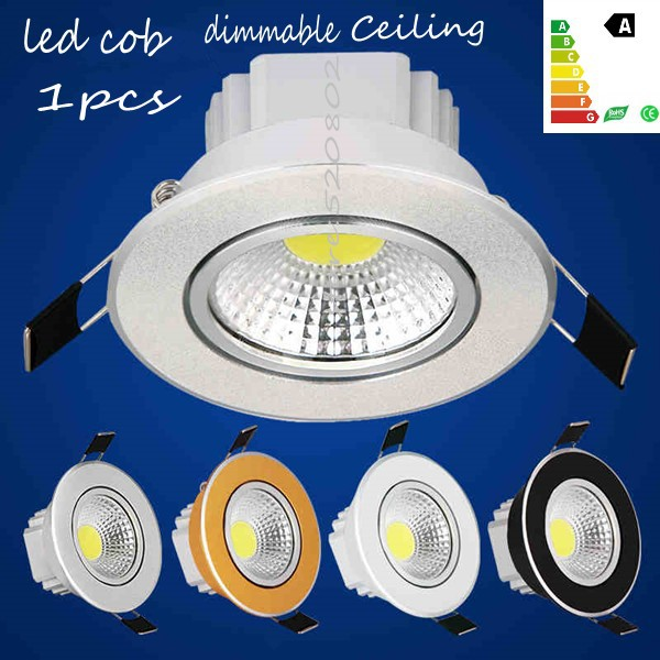 Brightest Recessed Lighting Bulbs : Pcs super bright dimmable led downlight cob ceiling w