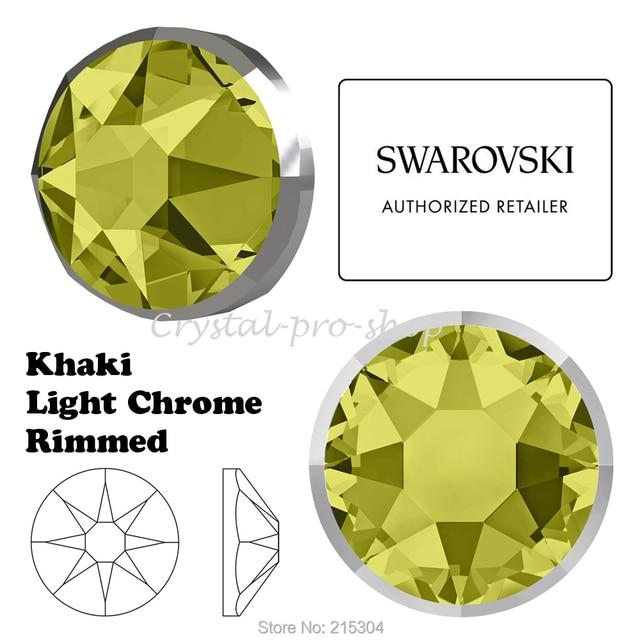 3290e00efa2533 New 2019-20 Swarovski Elements Rimmed 2088 I Khaki Light Chrome ( No Hotfix  ) Crystal Flatback Rhinestone