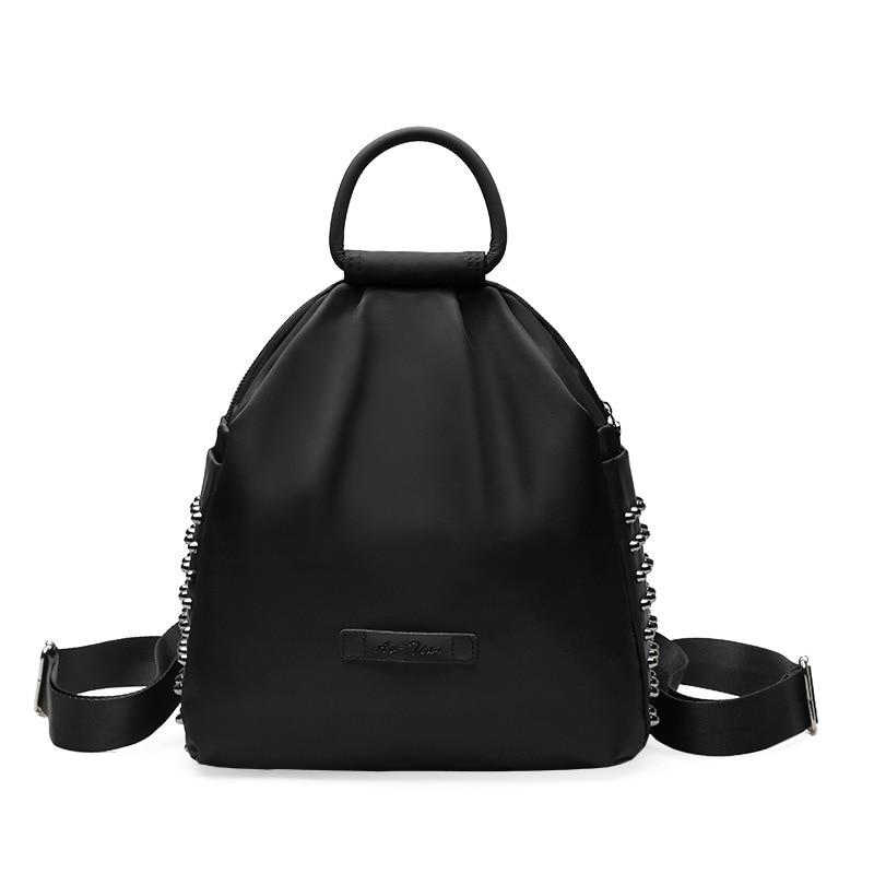 2018 Small Women Backpack Waterproof Nylon Lady Women's Backpacks Female Casual Travel bag Bags Rivet mochila feminina недорго, оригинальная цена