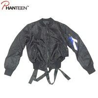Европейский И Американский Стиль Слинг Ленты Дизайн Пальто MA1 Bigbang GD Мода Человек Ввс Бомбардировщик Куртка Уличная Человек Верхняя Одежда
