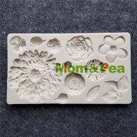 Mom&Pea MPB0031 Flowers Shaped Silicone Mold Cake Decoration Fondant Cake 3D Mold Food Grade cake 3d molds flower shape silicone moldfondant cake -
