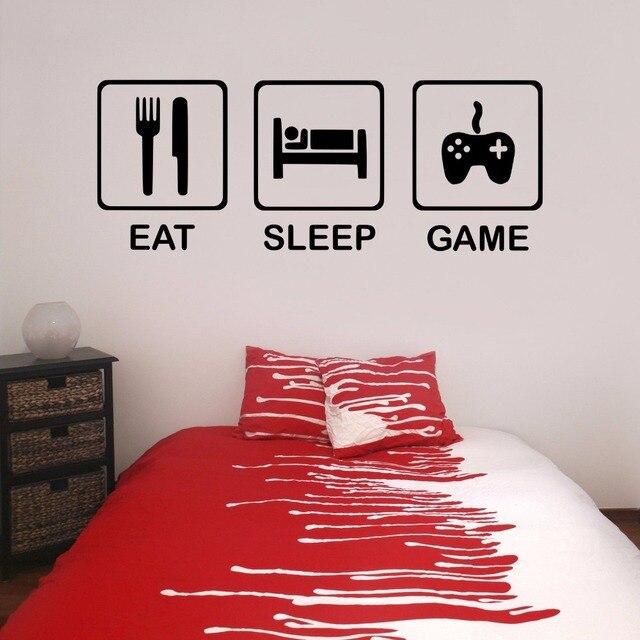 Eat Sleep Game Teenagers Children\'s Bedroom Boy Room Gamer Gaming ...