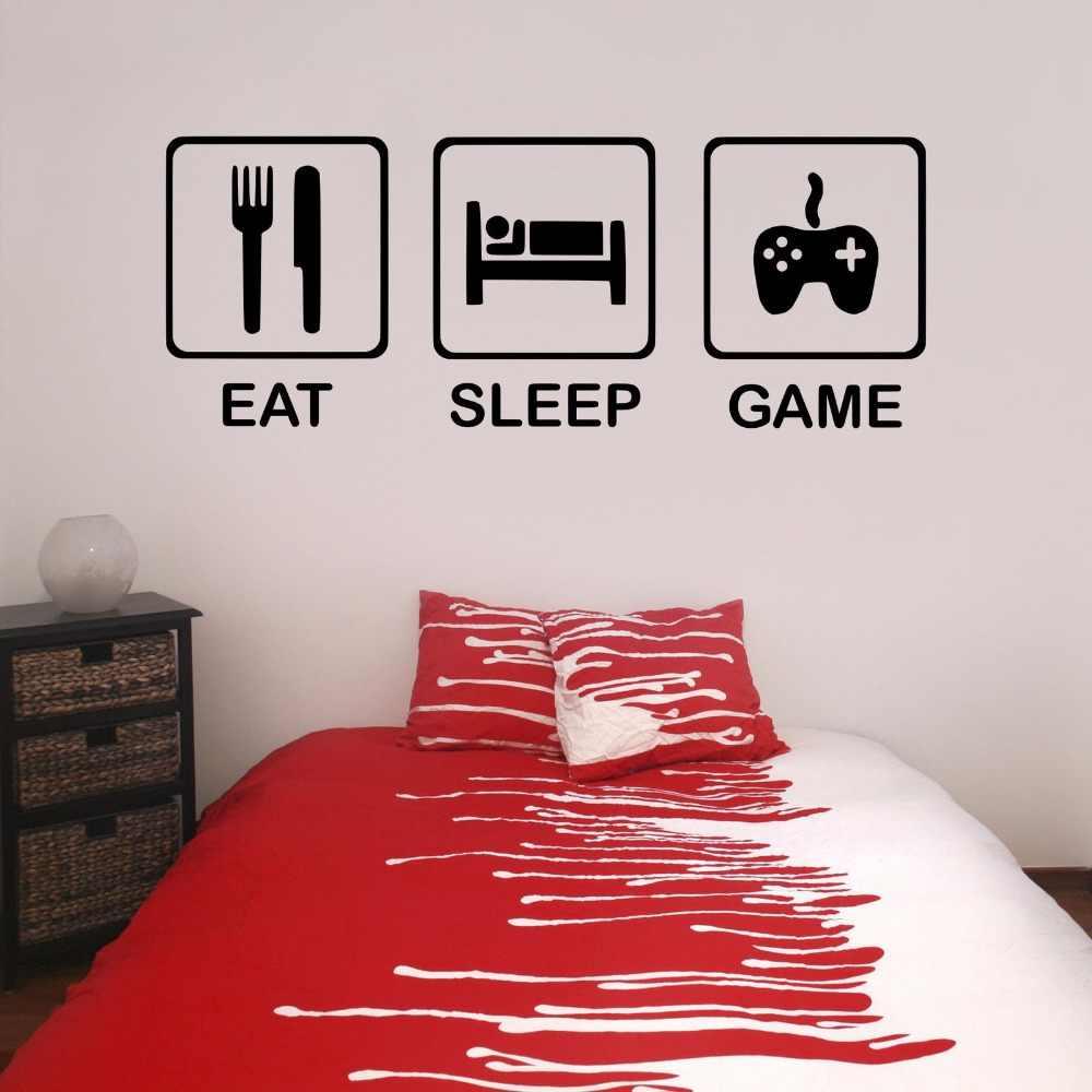 Eat Sleep Game Teenagers Children S Bedroom Boy Room Gamer Gaming