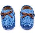 Новорожденный Девочки Мальчики Повседневная Хлопок Искусственной Кожи Мокасины Детская Кровать В Обуви Кроссовки Обувь Для Ходьбы
