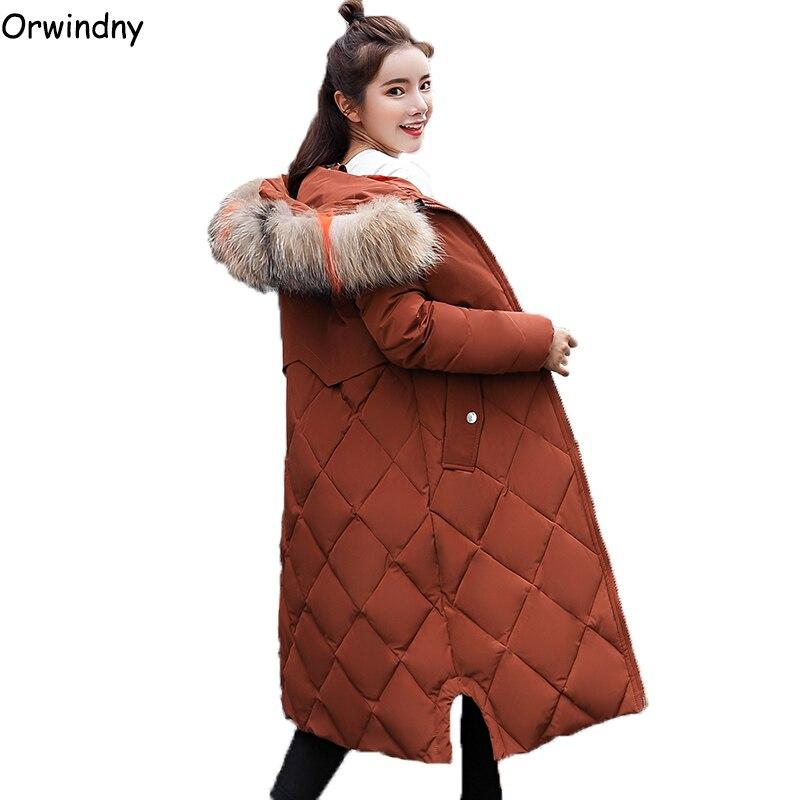 Orwindny Long Winter Coat Women Hooded New Winter Woman Coats 2019 Plus S-3XL Female   Parka   Thick Warm Clothing Wadded Jackets
