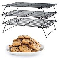 Baking Cooling Rack Stainless Steel Nonstick Cooling Rack 3 Tier Cooling Grid Baking Tray Biscuit Cookie Bread Cake Baking Tool
