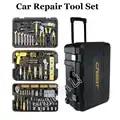 255 pcs Huishoudelijke Drie layer Rolling Tool Box Voertuig Combinatie Gereedschap Auto Handgereedschap Combinatie 105255