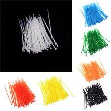 100 adet yeni tasarım 3x100mm ağ naylon plastik kablo tel organizatör Zip kravat kordon askısı 7 renkler toptan