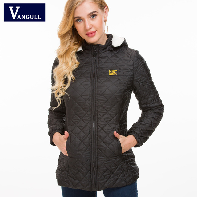 Vangull Winter Jacket Women Thick Warm Hooded Parka 2018 New Slim Down cotton clothing Long sleeve Coat Female Autumn Outerwear 1