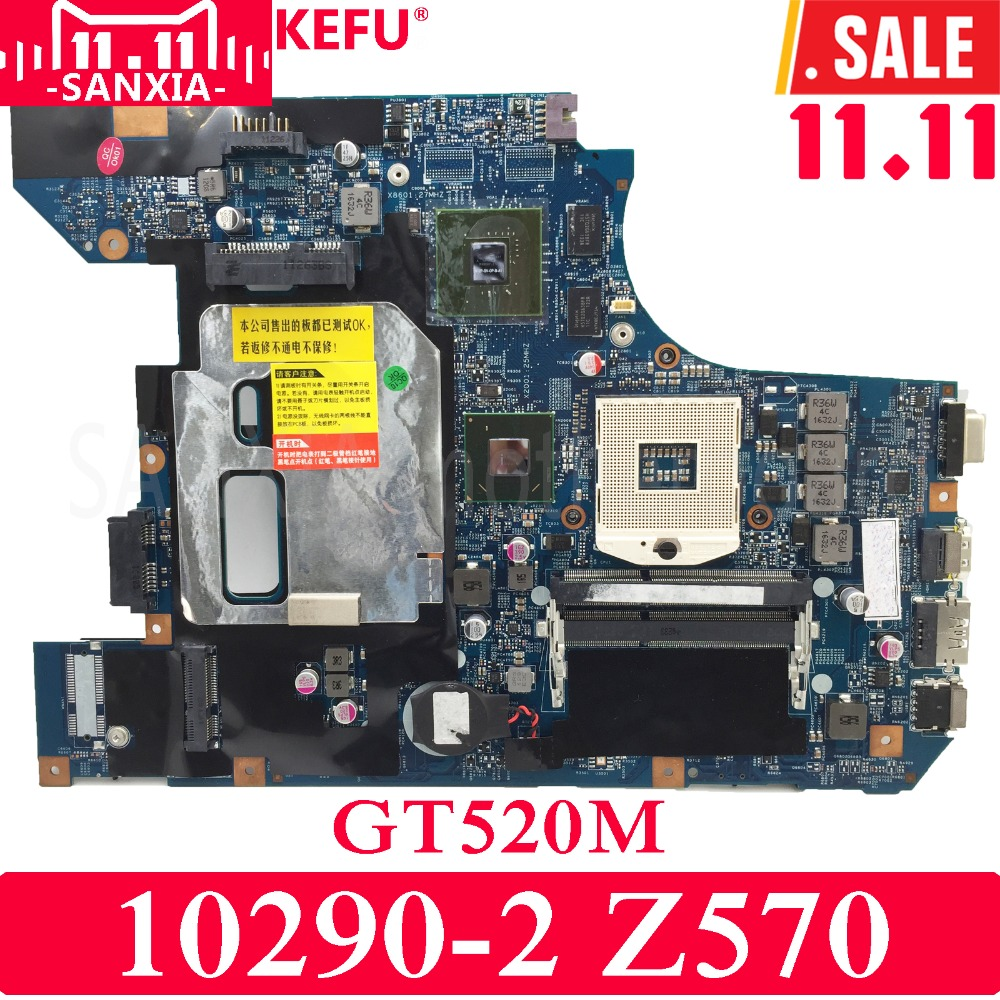 KEFU 10290-2 Laptop motherboard for Lenovo Z570 Test original mainboard GT520M original for lenovo b490 v470 motherboard mainboard 48 4td01 011 100