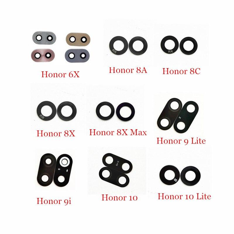 1x стеклянная задняя камера с наклейками для Huawei Honor 6X 8A 8C 8X Max 9i 9 Lite 10 Lite