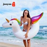 Inflatable Unicorn Swim Ring Pool Float Pool Swimming Ring Adult Kids Float Buoy Pool Inflatable Toys Unicorn Swim Floats jooyoo