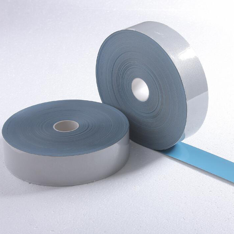2.5cmX3m Safety Reflective Heat Transfer Vinyl Film DIY Silver Iron On Reflective Tape For Clothing