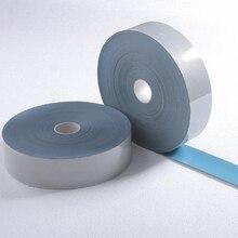 2.5cmX3m безопасности отражательный передачи тепла виниловая пленка DIY Серебряный железа на ленты для одежды