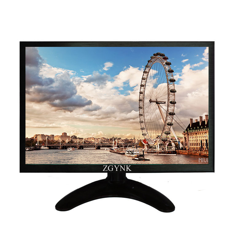 10.1 - inch IPS DVI VGA HDMI industrial LCD monitor, slim PC monitor, 1280 x 800 widescreen HD