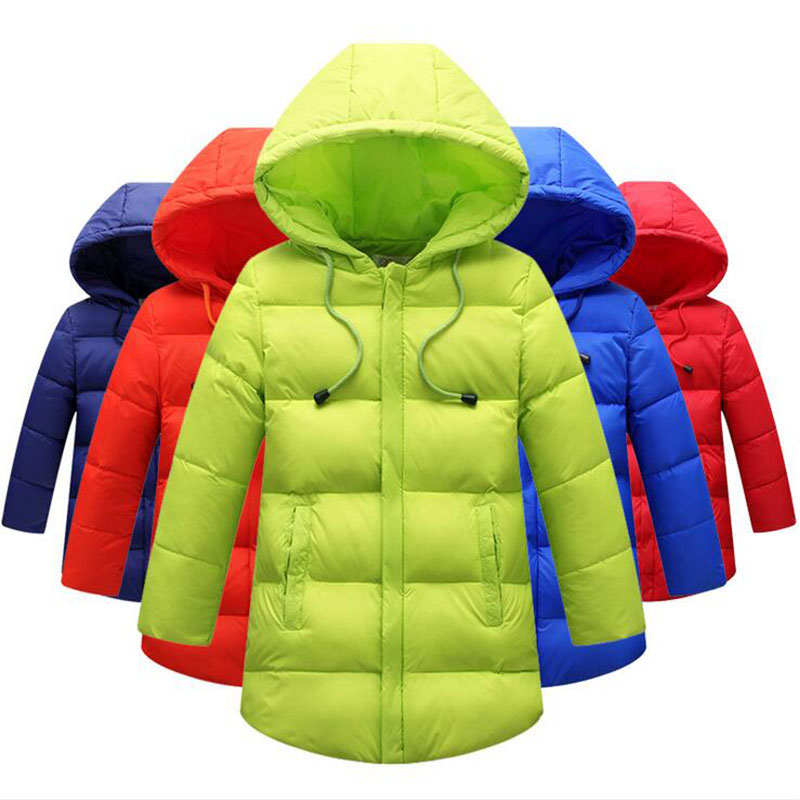 ФОТО 2016 Children's down jacket and long sections Hooded boys and girls big virgin thicker Baby winter coat