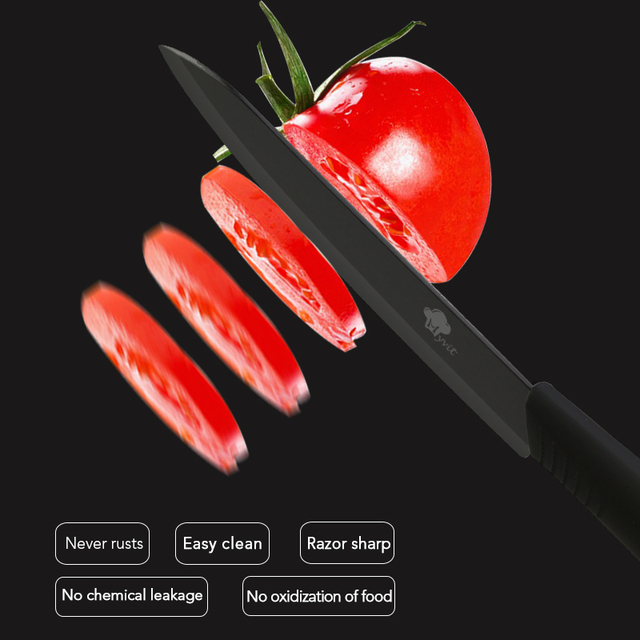 Ceramic Knives 4 Pcs Set For Fruits and Vegetables