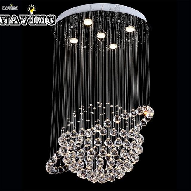 modern led crystal ceiling lights cristal lustres fitting flush mount lighting fixtures globe design lamp for