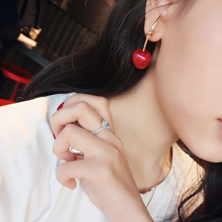 Cute/romantic Round Women Dangle Earrings Sweet Cherry Cherry Earrings Earrings For Women Drops Earrings 4