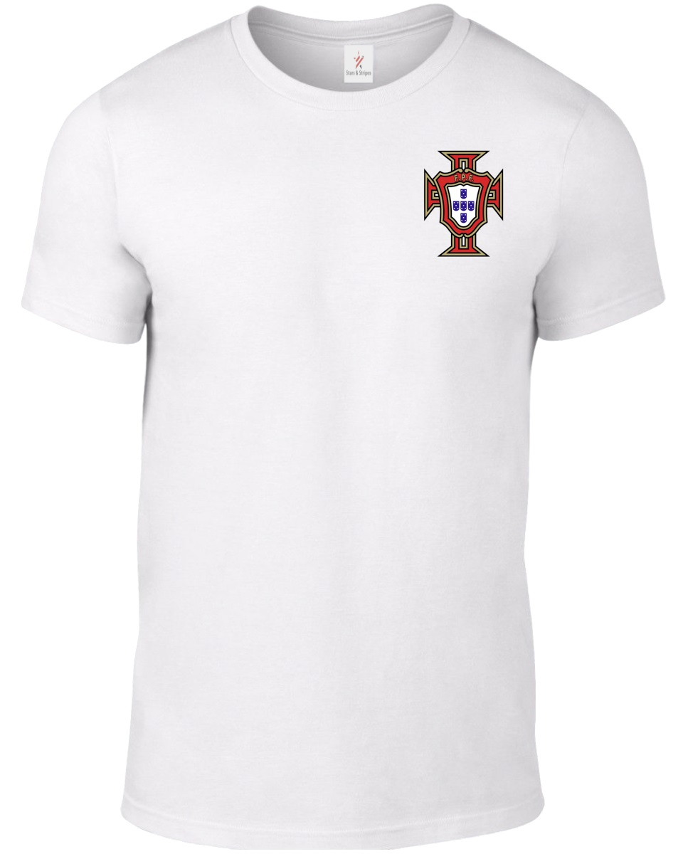 2019 Fashion 100% Cotton Slim Fit Top Solid Color Portugal Men'S Footballer Legend Soccer Street Wear Shirts
