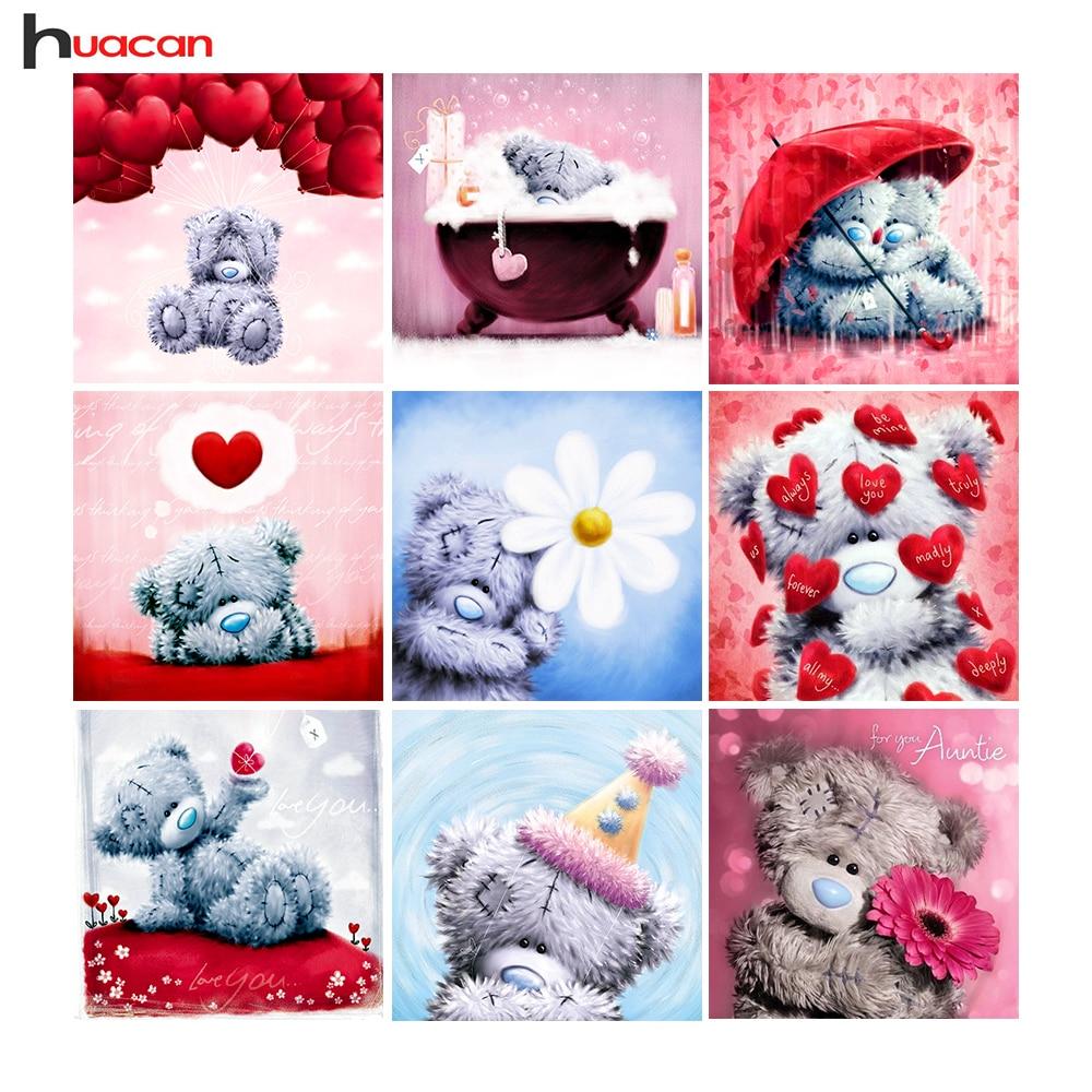 5D Diamond Embroidery Teddy Bear Picture of Rhinestones ...