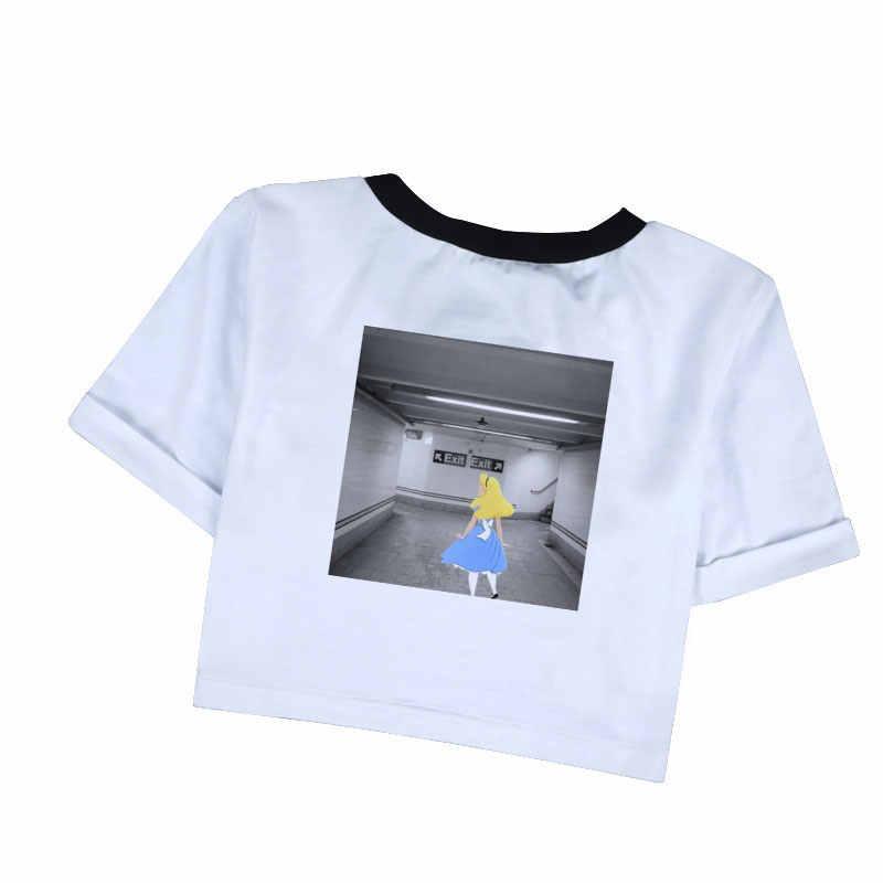 Забавный укороченный топ Ван Гог Мона Лиза, женская футболка, эстетические хипстерские футболки, модная одежда Ариана Гранде, футболки Харадзюку