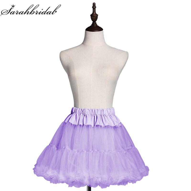 Vintage Lady Girls Child Short Mini Petticoat Tulle Crinoline Underskirt Cheap Ballet Swing Rockabilly Ruffle Tutu Skirt 12019