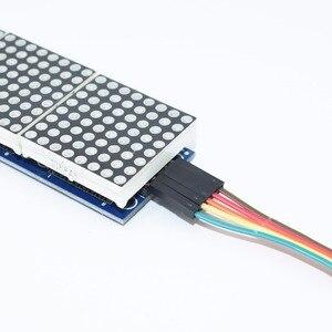 Image 3 - 10 sztuk MAX7219 moduł macierzy punktowej mikrokontroler 4 w jednym wyświetlaczu z linią 5P 4 w 1