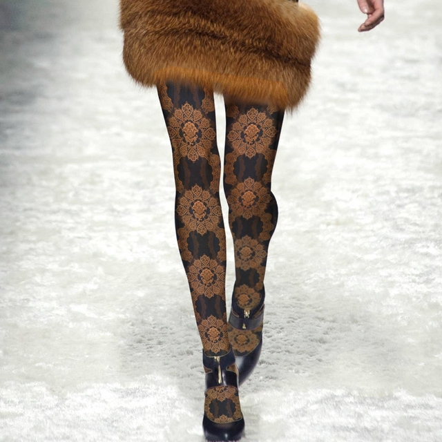 Women Tights Sale Time-limited Print Cotton Stockings Collant 2016 Catwalk Fashion Tights Pantyhose Woman Prints High Crotch
