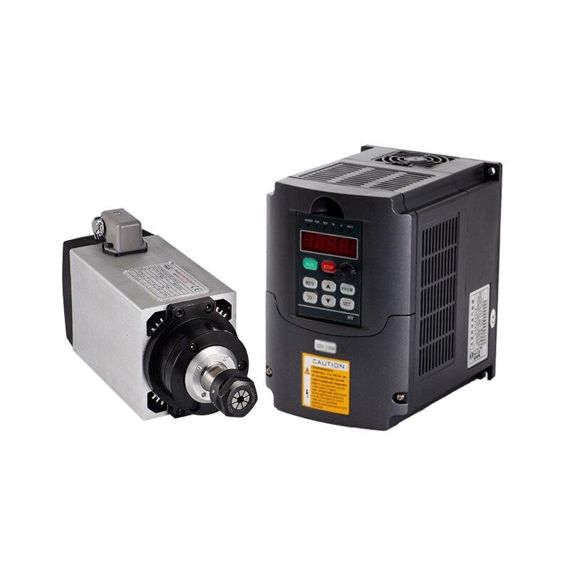 CNC Fuso de Fresamento ER20 3KW 220 V Refrigerado A Ar Do Eixo Do Motor Router Ferramentas VFD Conversor Inversor de Controle de Velocidade Para A Perfuração