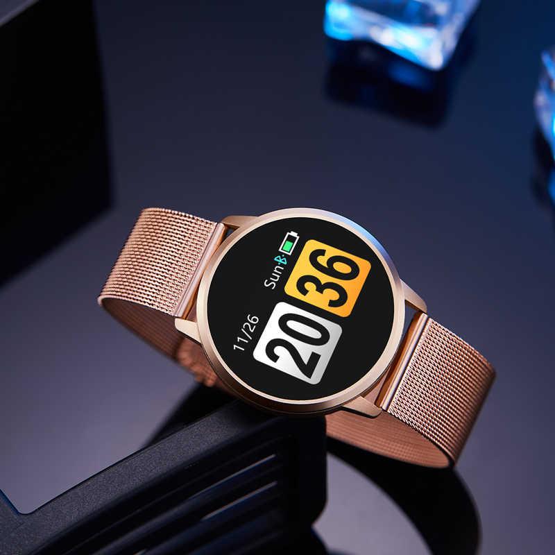 Newwear Q8 Q9 Смарт-часы модные электроники Для мужчин Для женщин Водонепроницаемый спортивные трекер Фитнес браслет «Умные» часы Носимых устройств
