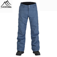 SAENSHING Ski Pants Winter Waterproof Skiing Snowboard Pants For Women Men Thicken Warm Snow Trousers Outdoor Ski pantalones