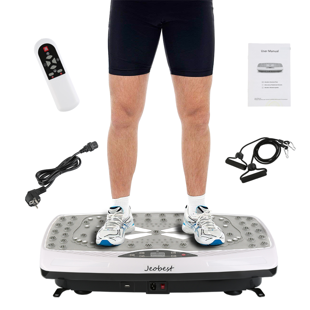 лучшая цена 220W Flat Plate Shiatsu Vibration Machine Abdominal Muscle Trainer Body Sculpting weight loss fitness Equipment Home EU Plug HWC