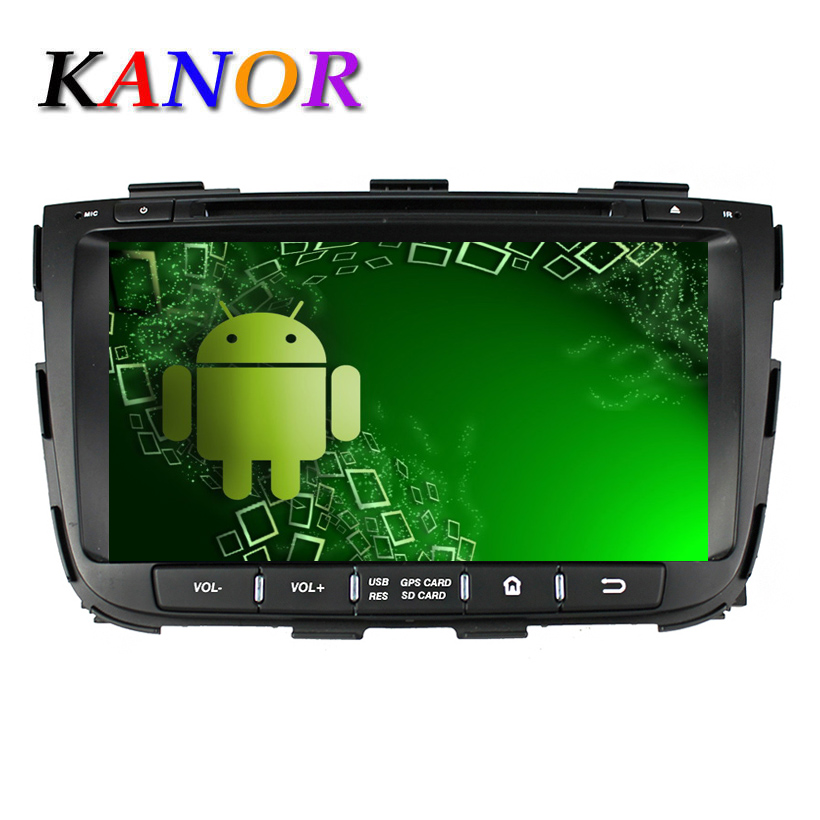 1024*600 Autoradio Android 5.11 Cassette Player Fit Kia Sorento 2013 2014 Car Radio GPS Navigation with DVD Automotivo Stereo