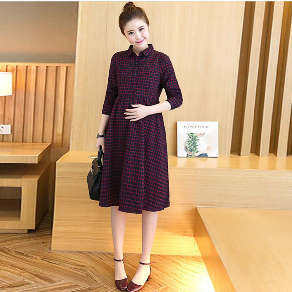 ФОТО 2016 Fashion Maternity Clothes Cotton maternity dresses Nursing  Dress pregnant dress pregnancy clothes for Pregnant Women M-XL