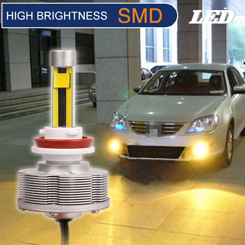 Newest H16 LED FOG Lamps Automobiles External Lights LED H16 Car Bulbs High Power 20W Golden Foglight 3000K зубр 25629 h16