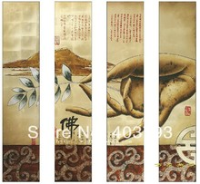 Modern abstract  Oil Painting On Canvas buddha hand paintings for home decoration Free shipping цена