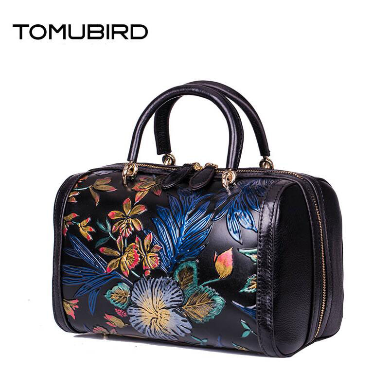 TOMUBIRD 2017 New genuine leather women bag retro fashion women leather handbags shoulder bag hand embossing leather art bag free shipping embossing letters package europe fashion genuine leather single shoulder hand his female bag